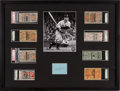 Baseball Collectibles:Tickets, 1928-37 Lou Gehrig World Series Home Run Games Ticket Stub CompleteRun Display with Autograph....