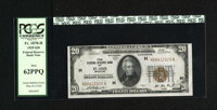 Fr. 1870-H $20 1929 Federal Reserve Bank Note. PCGS New 62PPQ. A fresh note missing a higher grade because of a close to...