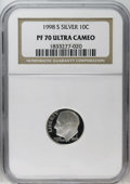 Proof Roosevelt Dimes: , 1998-S 10C Silver PR70 Deep Cameo NGC. NGC Census: (170/0). PCGSPopulation (45/0). Numismedia Wsl. Price: $220. (#95287)...