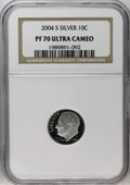 Proof Roosevelt Dimes: , 2004-S 10C Silver PR70 Deep Cameo NGC. PCGS Population (63/0).Numismedia Wsl. Price: $180. (#95309)...