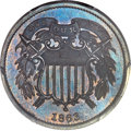 Patterns, 1863 2C Two Cents, Judd-312, Pollock-377, R.4, PR65 Brown PCGS. CAC....