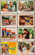 """Movie Posters:Adventure, Green Fire & Others Lot (MGM, 1954). Title Lobby Cards (2) & Lobby Cards (6) (11"""" X 14""""). Adventure.. ... (Total: 8 Items)"""