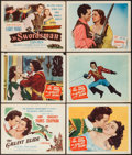 "Movie Posters:Swashbuckler, The Gallant Blade & Other Lot (Columbia, 1948). Title Lobby Cards (2) & Lobby Cards (4) (11"" X 14""). Swashbuckler.. ... (Total: 6 Items)"