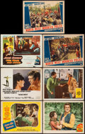 "Movie Posters:Elvis Presley, Love Me Tender and Others Lot (20th Century Fox, 1956). Lobby Cards(7) (11"" X 14""). Elvis Presley.. ... (Total: 7 Items)"