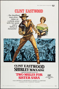 """Two Mules for Sister Sara (Universal, 1970). One Sheet (27"""" X 41""""). Western"""
