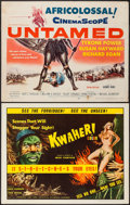 "Movie Posters:Adventure, Untamed & Other Lot (20th Century Fox, 1955). Half Sheets (2)(22"" X 28""). Adventure.. ... (Total: 2 Items)"