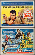 "Movie Posters:Action, Back to God's Country & Other Lot (Universal International, 1953). Half Sheets (2) (22"" X 28""). Action.. ... (Total: 2 Items)"