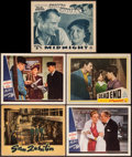 "Movie Posters:Crime, San Quentin & Others Lot (Warner Brothers, 1937). Lobby Cards(5) (11"" X 14""). Crime.. ... (Total: 5 Items)"