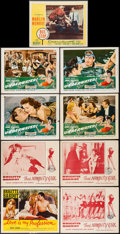 """Movie Posters:Sexploitation, That Naughty Girl & Others Lot (Films Around the World, 1956).Lobby Cards (9) (11"""" X 14""""). Sexploitation.. ... (Total: 9 Items)"""