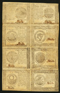 Colonial Notes:Continental Congress Issues, Continental Currency September 26, 1778 Half Sheet of EightExtremely Fine.. ...