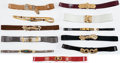 Luxury Accessories:Accessories, Judith Leiber Set of Eleven Belts . ... (Total: 11 Items)