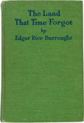 Books:Science Fiction & Fantasy, Edgar Rice Burroughs. The Land That Time Forgot. Chicago: A.C. McClurg & Co., 1924. First edition. Presentation c...