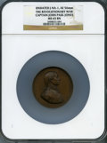 Betts Medals, Revolutionary War, Captain John Paul Jones MS65 Brown NGC.Betts-568. Paris Mint. Edge-marked CUIVRE with pointing hand(184...