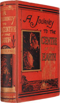 Books:Science Fiction & Fantasy, Jules Verne. A Journey to the Centre of the Earth. New York:Scribner Armstrong And Co., 1874. First American ed...