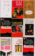 Books:Fiction, Group of Nine Human Sexuality Paperbacks. All relating to Sadismand Masochism. Various publishers, circa 1960s and 1970s. V...(Total: 9 Items)