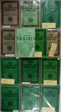 Books:Periodicals, Group of 13 Issues of The American Mercury. 1924-1933. Allinclude works by James M. Cain. Original wrappers. Toned ...(Total: 13 Items)