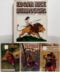 Books:Literature 1900-up, Group of Four Books Relating to Edgar Rice Burroughs. IncludesThree Novels by Burroughs and a biography of Burroughs. Vario...(Total: 4 Items)