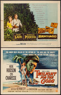 "Movie Posters:Adventure, Santiago & Other Lot (Warner Brothers, 1956). Half Sheets (2)(22"" X 28""). Adventure.. ... (Total: 2 Items)"