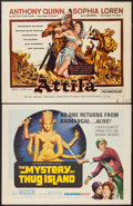 "Movie Posters:Adventure, Attila & Other Lot (Lux Film, 1958). Half Sheets (2) (22"" X28"") Regular & Style A. Adventure.. ... (Total: 2 Items)"