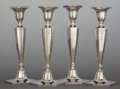 Silver & Vertu:Hollowware, FOUR TIFFANY & CO. SILVER WEIGHTED CANDLESTICKS . Tiffany & Co., New York, New York, circa 1906-1907. Marks to three: TIFF... (Total: 4 Items)