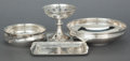 Silver Holloware, American:Other , FOUR TIFFANY & CO. SILVER TABLE ARTICLES . Tiffany & Co.,New York, New York, 20th century. Marks to compote: TIFFANY& CO... (Total: 4 Items)