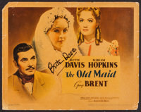 """The Old Maid (Warner Brothers, 1939). Autographed Title Lobby Card (11"""" X 14""""). Drama"""