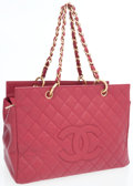 Luxury Accessories:Bags, Chanel Raspberry Caviar Leather Grand Shopper Tote Bag. ...