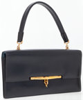 Luxury Accessories:Bags, Hermes Blue Marine Calf Box Leather Sac Palonnier Bag with GoldHardware. ...