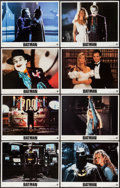 """Movie Posters:Action, Batman (Warner Brothers, 1989). Lobby Card Set of 8 (11"""" X 14"""").Action.. ... (Total: 8 Items)"""