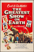 "Movie Posters:Drama, The Greatest Show on Earth (Paramount, 1952). Autographed One Sheet (27"" X 41""). Drama.. ..."