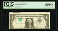 Error Notes:Inverted Third Printings, Fr. 1913-B $1 1985 Federal Reserve Note. PCGS Extremely Fine40PPQ.. ...