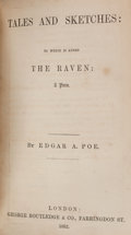 Books:Literature Pre-1900, [Edgar Allan Poe]. Sammelband of Three Works of Nineteenth-CenturyFantastic Literature, including (in bound order): Tal...