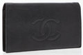 Luxury Accessories:Accessories, Chanel Black Caviar Leather Bifold Wallet with CC Detail. ...