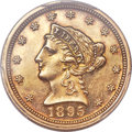 1895 $2 1/2 -- Ex-Jewelry -- PCGS Proof Genuine. AU Details....(PCGS# 7921)