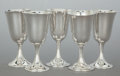 Silver Holloware, American:Wine Goblet, AN ASSEMBLED GROUP OF FIFTEEN AMERICAN SILVER WINE GOBLETS .Various makers, mid-20th century. Marks to Gorham examples: (li...(Total: 15 Items)