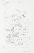 Original Comic Art:Splash Pages, Casey Jones Exiles #3 Penciled Splash Page 19 Original Art(Marvel, 2009)....