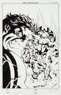 Original Comic Art:Covers, Mike McKone and Mark McKenna Exiles #5 Hulk Cover OriginalArt (Marvel, 2001)....