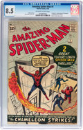 Silver Age (1956-1969):Superhero, The Amazing Spider-Man #1 (Marvel, 1963) CGC VF+ 8.5 Off-white to white pages....