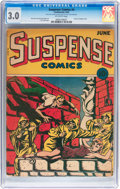 Golden Age (1938-1955):Horror, Suspense Comics #4 (Continental Magazines, 1944) CGC GD/VG 3.0Off-white pages....