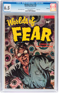 Golden Age (1938-1955):Horror, Worlds of Fear #10 Bethlehem pedigree (Fawcett Publications, 1953)CGC FN+ 6.5 Off-white to white pages....