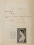 "Autographs:Artists, Maxfield Parrish Typed Letter Signed. One page, 8.5"" x 11"", Windsor[Vermont], September 12, 1912, to Warren E. Freeman rega..."