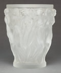 Art Glass:Lalique, A LALIQUE FROSTED GLASS BACCHANTES VASE. Post 1945. Marks:LALIQUE, FRANCE. 9-3/4 inches high (24.8 cm). P...