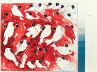 VERNON FISHER (American, b. 1943) Genetic Variations/Natural Selection (diptych), 1983 Lithograph