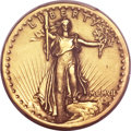 High Relief Double Eagles, 1907 $20 High Relief, Wire Rim -- Ex Jewelry -- PCGS Genuine. AU Details....
