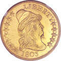 Early Eagles, 1803 $10 Small Stars Reverse -- Obverse Improperly Cleaned -- NGC Details. AU. BD-3, R.4....