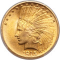 Indian Eagles, 1915 $10 MS64+ PCGS....