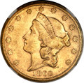 Liberty Double Eagles, 1860-S $20 AU58 NGC....