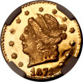 California Fractional Gold, 1871 25C Liberty Round 25 Cents, BG-813, R.3, MS67 ProoflikeNGC....