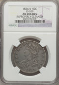 Bust Half Dollars: , 1824/4 50C -- Improperly Cleaned -- NGC Details. AU. O-109. NGCCensus: (7/75). PCGS Population (8/75)....