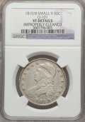 Bust Half Dollars: , 1819/8 50C Small 9 -- Improperly Cleaned -- NGC Details. VF. O-101.NGC Census: (10/293). PCGS Population (10/206). Numism...